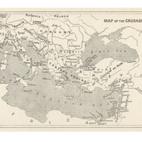 Map of the Crusades, Showing Europe, the Middle East and the Holy Land Giclee Print at AllPosters.com