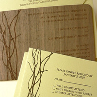 Oslo Press Invitations in Paper and Wood | Paper Crave