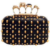 GYPSY WARRIOR - Studded Skull Knuckle Clutch