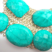 SALE Ships Now:  Turquoise Bubble Necklace, J.Crew Bauble Necklace, Bib Bubble Necklace, J Crew Jewelry, Bubble Statement Necklace,