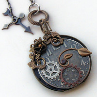 Steampunk Watch Necklace by Aranwen on Etsy