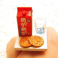 Kawaii Cute Japanese Ring Sake Senbei Snacks by SouZouCreations