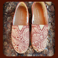 Henna Design TOMS Style Shoes- Made To Order
