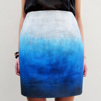 Blue Skies Ombr Skirt