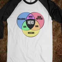 Nerd Venn Diagram - Funny Random Designs