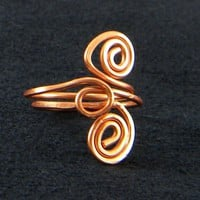 Handmade Copper Wire Scultpured Ring