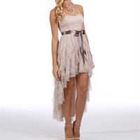 Annette-Champagne Homecoming Dress
