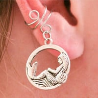 Silver Mermaid Ear Cuff