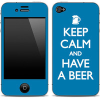 Keep Calm and Have A Beer iPhone 4/4s Skin FREE SHIPPING