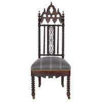 One Kings Lane - Biggs Powell - Petite Victorian Gothic Side Chair