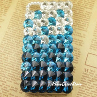 Ocean iPhone case Sea iPhone 4s case Blue iPhone 4 case Rhinestone iPhone cover iPhone 5 case iPhone 5 cover Crystal iPhone cases iPhone 4s