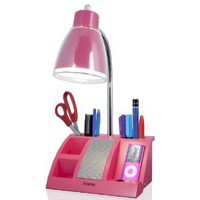 Amazon.com: iHome iHL24-Pink Colortunes Desk Organizer Speaker Lamp with iPod Player Compartment, Pink: Home Improvement