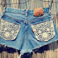 Custom Order. Lace Shorts