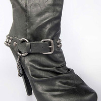 Studded Buckle Ankle Bootie | Sexy Clothes Womens Sexy Dresses Sexy Clubwear Sexy Swimwear | Flirt Catalog