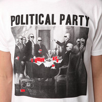 Riot Society Political Party Tee- White