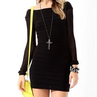 Mesh Sleeve Bodycon Dress