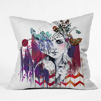 DENY Designs Home Accessories | Holly Sharpe Tribal Girl 1 Throw Pillow