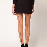 ASOS Oui Non Back Seam Tights at asos.com