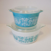 Vintage Pyrex Butterprint Cinderella Casserole by DeidresRedos