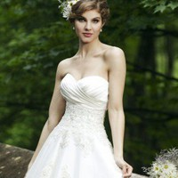 Zippered Organza Wedding Dress