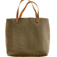 Women's NEW ARRIVALS - accessories - The Leather Transport Tote - Madewell