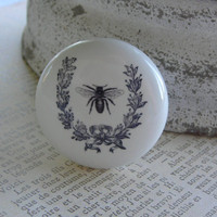 French Chic  Paris Wreath with Bee knob for by Pinkrosecottage