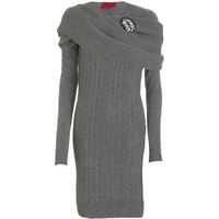 Lanvin Broached Knit Dress