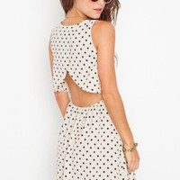 Dot Cutout Dress - NASTY GAL