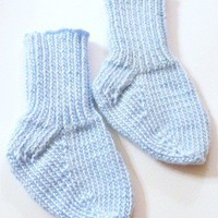 Knitted Blue Infant Socks