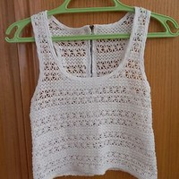 urban outfitters free people french boutique crochet tank top shirt $49 xs 0 2