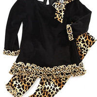 Bonnie Baby Set, Baby Girls Top and Legging Leopard Set - Kids Shop All Baby - Macy&#x27;s