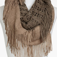 BP. Two Tone Fringe Infinity Scarf | Nordstrom