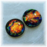Dichroic Glass Stud / Post Earrings