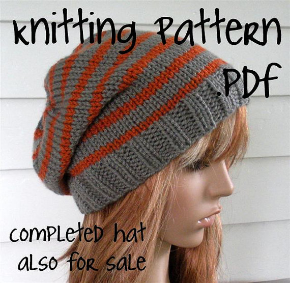Knitting Pattern, Knit Hat Pattern, Easy from TikiFiberCrafts on