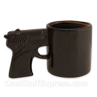 Black Gun Pistol Mug