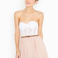 Spotted Swing Skirt - Blush