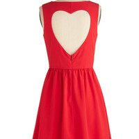 Heart on Your Sleeveless Dress | Mod Retro Vintage Dresses | ModCloth.com