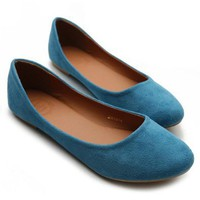 Amazon.com: Ollio Womens Ballet Flats Loafers Comfort Light Faux Suede Low Heels Multi Colored Shoes: Shoes
