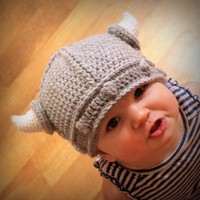 Crochet Pattern - Lael Viking Hat (Sizes Newborn to Adult)