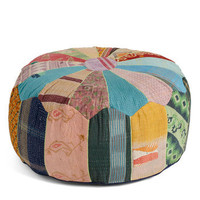 Karma Living Dorm Decor Patchwork from Home Pouf