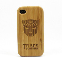 iPhone 4/4S Case Cool Transformers Eco-friendly Bamboo on Luulla