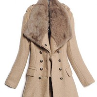 Brown Laple Single Breasted Woolen Coat - Designer Shoes|Bqueenshoes.com