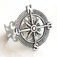 Steampunk ADVENTURER COMPASS Ring