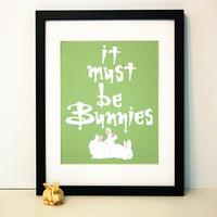 It Must Be Bunnies Buffy Inspired 8x10 print by SayItAgainDesign