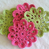 Crochet Coasters, Doilies, Embellis.. on Luulla