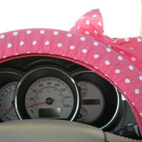 Steering Wheel Cover with Matching Bow