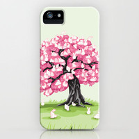 Bunny Blossom Tree iPhone Case by Little Toppers | Society6