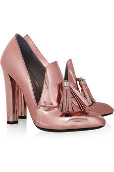 Alexander Wang|Anais metallic leather loafer pumps|NET-A-PORTER.COM