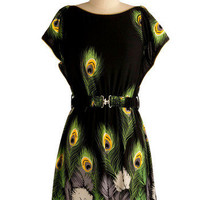 Ahead of the Flock Dress | Mod Retro Vintage Printed Dresses | ModCloth.com