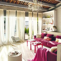 pink accented interior
